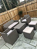 Набор садовой мебели Merano 6 Seater Set из искусственного ротанга ( Allibert by Keter ), фото 4