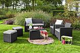 Набор садовой мебели Merano 6 Seater Set из искусственного ротанга ( Allibert by Keter ), фото 8