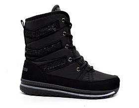 Ботинки черевики жіночі чорні зимові