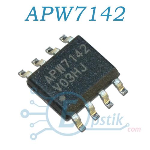 APW7142, синхронный DC/DC преобразователь напряжения, 0.8-12В 3А, SOP8