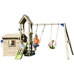 Дитяча ігрова вежа з будиночком Blue Rabbit LOOKOUT + SWING