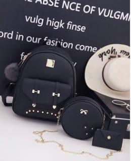 Женский рюкзак комплектом + брелок