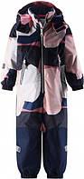 Зимние мембранные комбинезоны Reimatec Kiddo Snowy - 2020 год,  сине-розовый, 104 р.