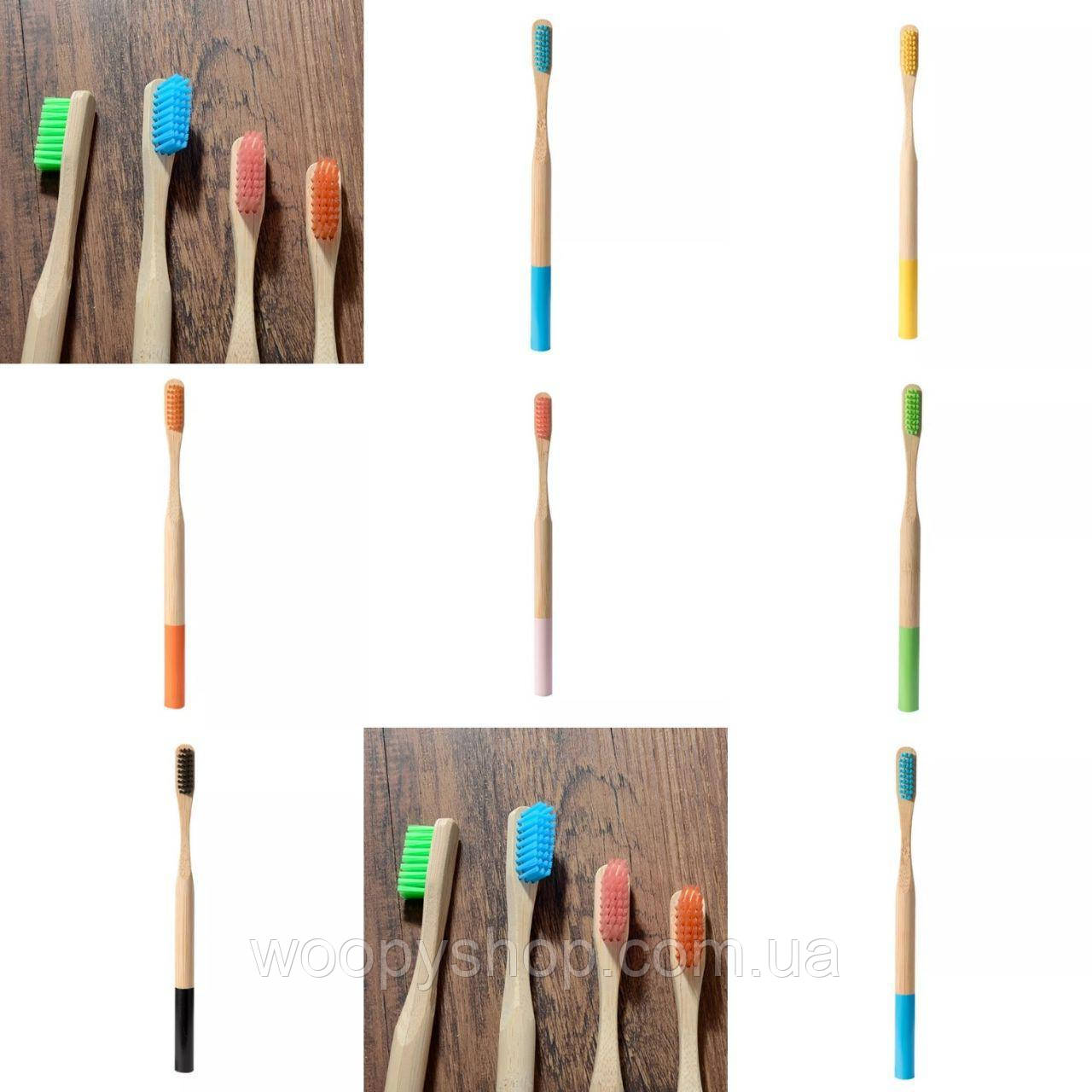 Щетка зубная бамбуковая 19см