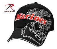 Бейсболка  черная MARINES EAGLE GLOBE & ANCHOR   (ROTHCO) США