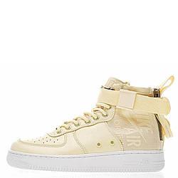 Оригинальные кроссовки женские Nike SF Air Force 1 Utility Mid Cream
