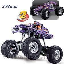 Конструктор Decool 3381 Monster Truck Монстр трак, грузовик, 2 в 1 329 деталей, фото 2