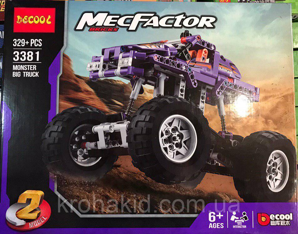 Конструктор Decool 3381 Monster Truck Монстр трак, грузовик, 2 в 1 329 деталей