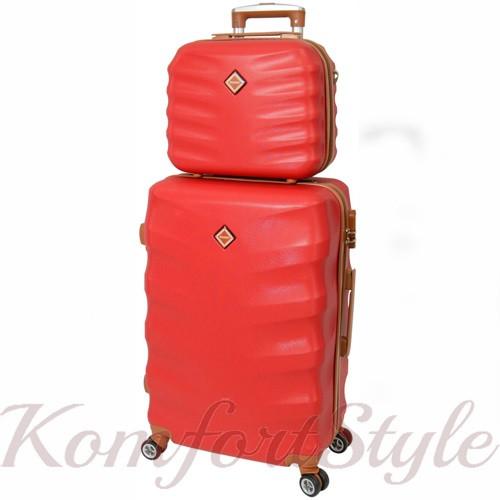 Комплект чемодан и кейс Bonro Next большой бордовый (10066904)