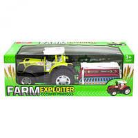 """Трактор """"Ферма с сеялкой"""" (зеленый) 0488-207  scs"""