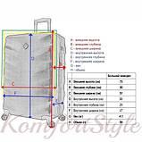 Дорожный чемодан на колесах Bonro Next большой синий (10063801), фото 4