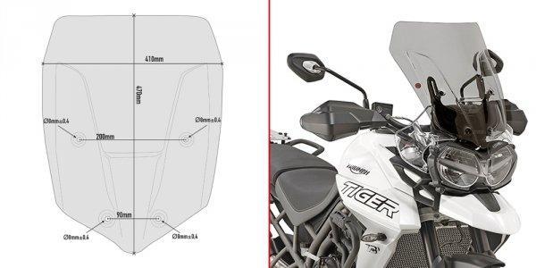 Ветровое стекло Givi D6413S для мотоцикла Triumph Tiger 800 XC / 800 XR (18)