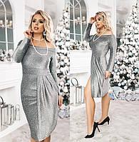 Нарядное женское платье ТК/-6017 - Бутылочный, фото 1