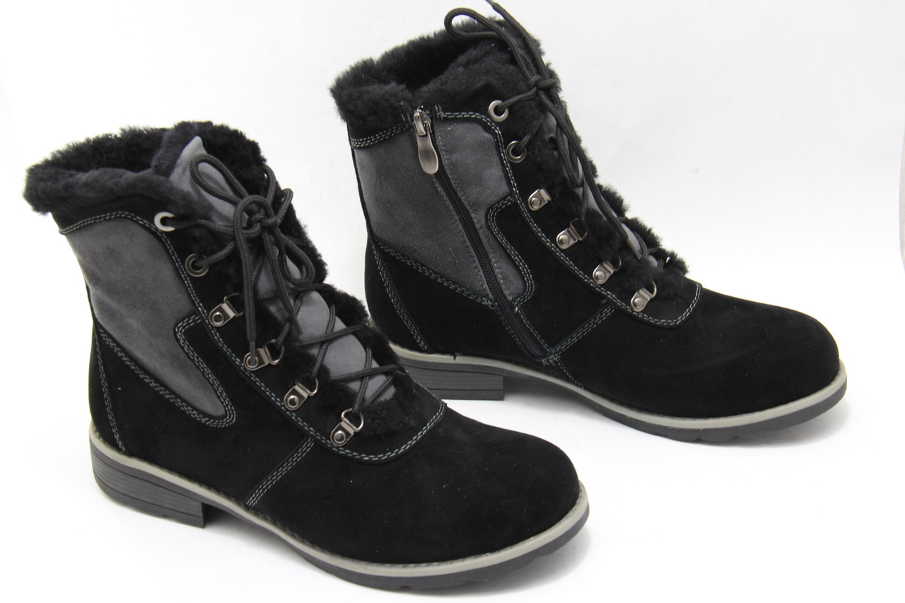 Черные зимние ботинки Renzoni R17