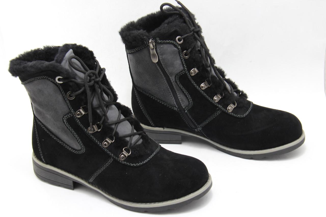 Чорні зимові черевики Renzoni R17