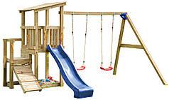 Дитячий майданчик з 2 гірками Blue Rabbit CASCADE + SWING