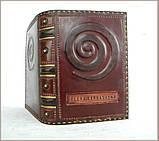 Блокнот ежедневник кожаный заказ надпись ручной работы формат A5 оригинальный подарок, фото 5