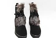 Черные зимние ботинки с чернобуркой M230, фото 4