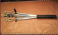 """Шампуры ручной работы """"Дикий кабанчик"""" в кожаном колчане, 6шт. (интересный набор для мужчины в подарок)"""