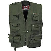 Канадский открытый жилет тёмно-зелёный (олива) Fox Outdoor, фото 1