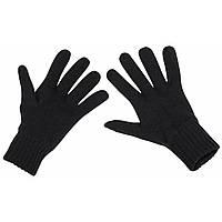 Перчатки трикотажные чёрные MFH