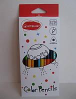 Двухцветные карандаши Acmeliae, треугольные 12 штук/24 цвета
