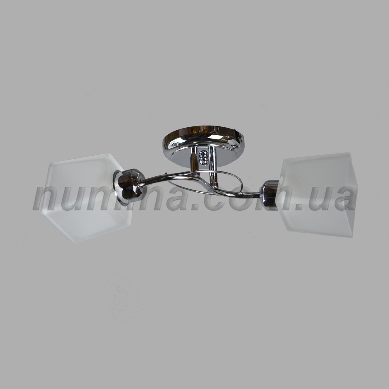 Люстра потолочная на две лампы 70-8857/2 CR+WT