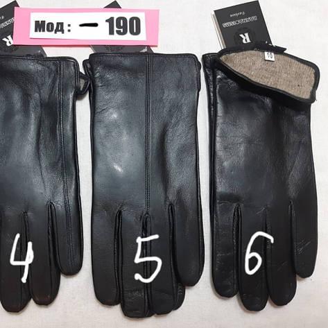 Кожа мужские перчатки смартфон внутри шерсть, фото 2