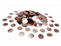 Конфетти кружочки розовое золото 2,3 см 50 г/упак. металлик  полипропилен
