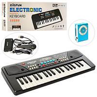 Синтезатор, 37 клавиш, микрофон, запись, 8 тонов, USB зарядное, MP3 плеер, BF-430C4