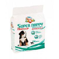 Пелюшки антиковзаючі  для цуценят і собак Super Nappy 60х60 см, 10 шт/ уп., Croci