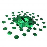 Конфетти кружочки зеленые 2,3 см 50 г/упак. металлик полипропилен