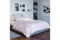 Постельное белье, двуспальный комплект, хлопковое постельное белье, ткань  Ранфорс, Pink love