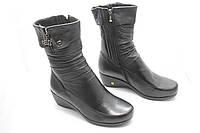 Кожаные зимние ботинки натуральный мех M874, фото 1