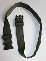 Ремень брючный тактический c стропами МОЛЛЕ с застежкой фастекс с фиксатором, оливковый.