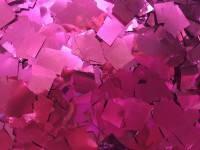 Конфетти квадратики малиновые 5-8х5-8 мм 50 г/упак. металлизк полипропилен