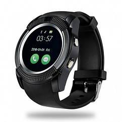 Сенсорные Smart Watch V8 смарт часы умные часы Чёрные A-PLUS