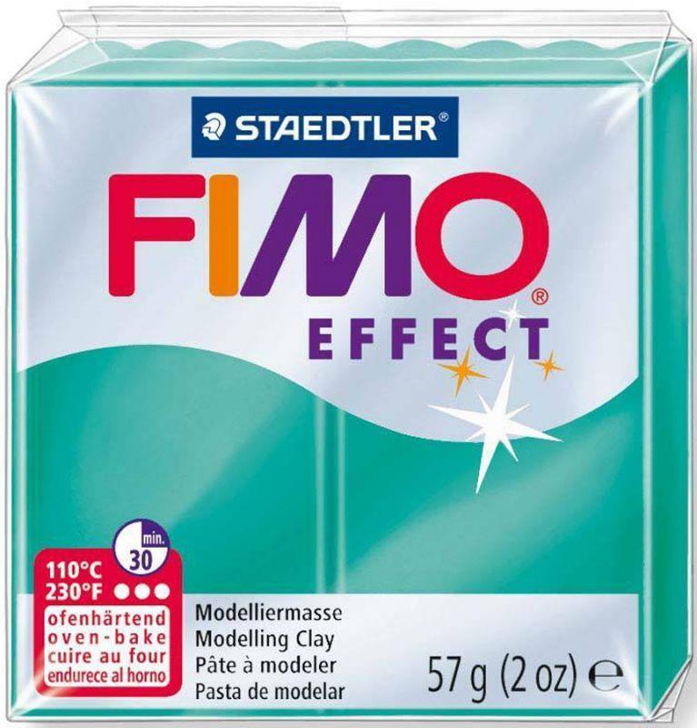 Пластика Effect, Зеленая полупрозрачная, 57 г, Fimo