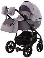 Дитяча коляска 2в1 Adamex Hybryd Plus BR228 Світло-сірий з сірим
