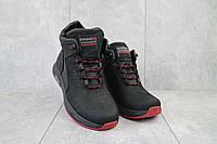 Ботинки мужские Zangak 129 ч-н-красн  (натуральная кожа, зима)