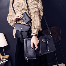 Женская повседневная сумка. Набор 4в1. Разные цвета. ( Женская сумка)