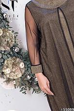 Платье нарядное вечернее шикарное черное размеры: 52-66, фото 3