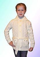 Кофта вязанная для девочки на пуговицах