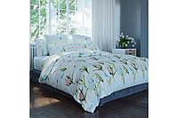 Постельное белье, евро  комплект, хлопковое постельное белье, ткань  Ранфорс, Ирис