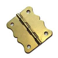 Петля с фиксатором 37х21мм золото, 2 шт.