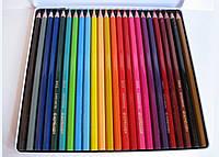Цветные карандаши в металлической коробке Acmeliae, 24 цвета