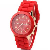 Модные женские часы GENEVA Luxury ,красные
