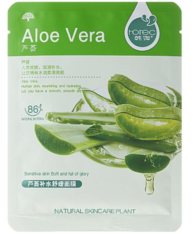 Тканевая маска для лица Rorec Natural Skin Aloe Mask Алое-Вера 30 г