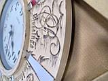 Часы настенные большие, кремового цвета с зеркальными вставками, фото 3
