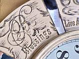 Часы настенные большие, кремового цвета с зеркальными вставками, фото 5